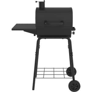 17.5 in. Barrel Charcoal Grill in Black