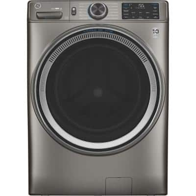 4.8 cu. ft. Satin Nickel Front Load Washing Machine with OdorBlock UltraFresh Vent System with Sanitize and Allergen