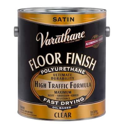 1 gal. Clear Satin 275 VOC Oil-Based Floor Finish Polyurethane (2-Pack)