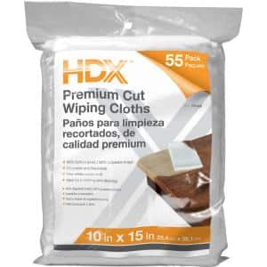 55-Count 10 in. x 15 in. Exact Cut Wiping Cloths (4-Pack)