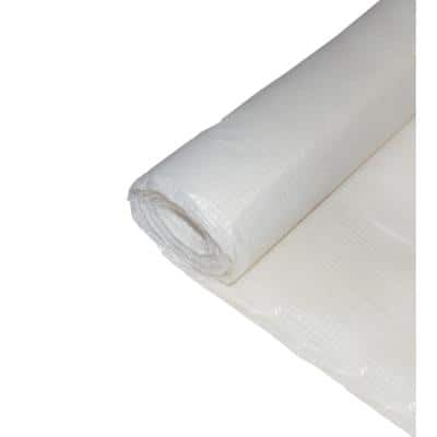 20 ft. x 100 ft. Woven Reinforced String Plastic Sheeting Great for Vapor Barrier, Crawl Space Under Floor