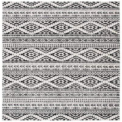 Tulum Ivory/Black 9 ft. x 9 ft. Square Area Rug