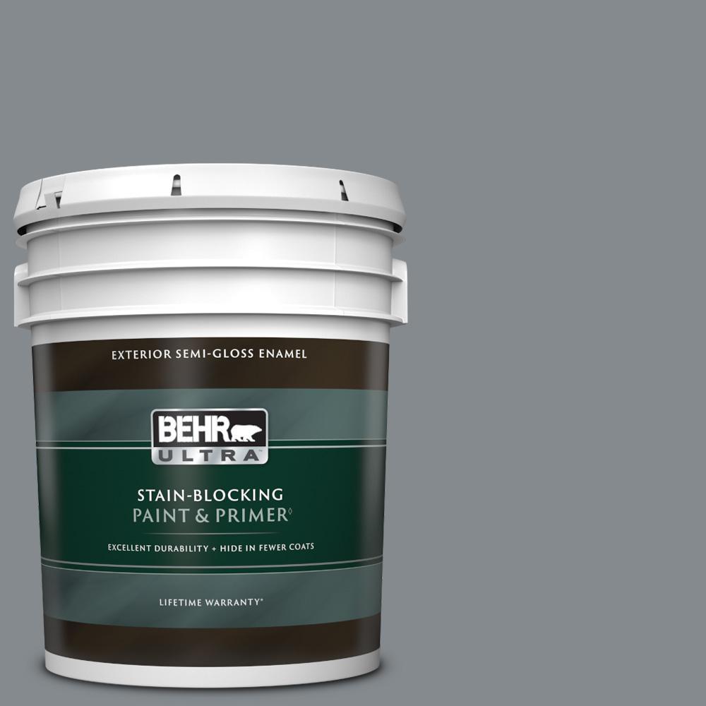 5 gal. #PPU26-21 Overcast Semi-Gloss Enamel Exterior Paint & Primer