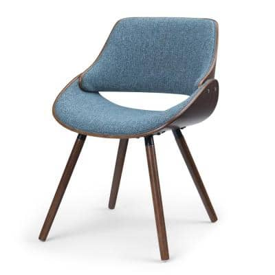 Halston Denim Blue Bentwood Dining Chair with Wood Back