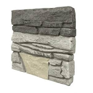 Stacked Stone 12 in. x 12 in. Northern Slate Faux Stone Siding Sample