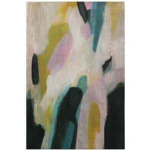 Hillside Dusk I Giclee Printed on Hand Finished Ash Wood Abstract Wooden Wall Art