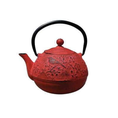 Suzume 3-Cup Teapot in Red