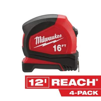 16 ft. Compact Tape Measure (4-Pack)
