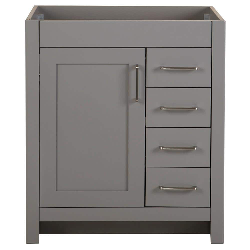 Home Decorators Collection Westcourt 30 In W X 21 In D Bathroom Vanity Cabinet Only In Sterling Gray Wt30 St The Home Depot