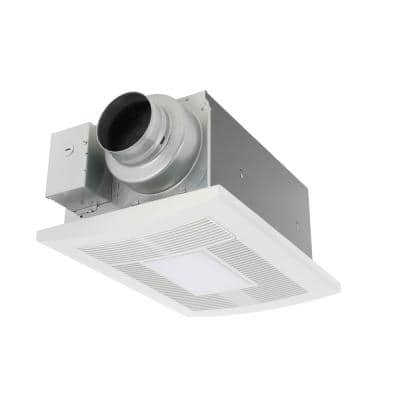 WhisperWarm DC 50-80-110 CFM Ceiling Exhaust Fan with LED Light/Night Light and Heater
