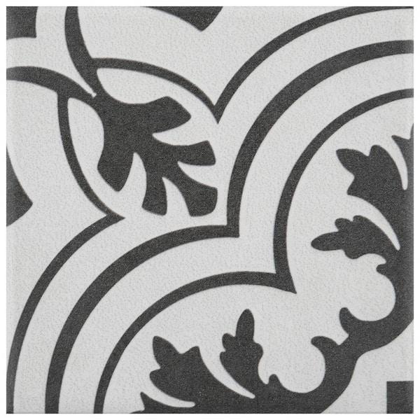 Merola Tile Take Home Sample Twenties Vintage Mini 4 In X Ceramic Floor And Wall S1frc4twvt The Depot
