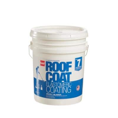 Roof Coat Top Coat 5 Gal. White Acrylic Reflective Elastomeric Roof Coating (7-Year Limited Warranty)