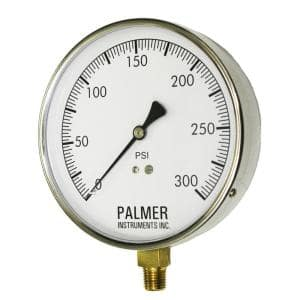 4.5 in. Dial 300 psi Stainless Steel Case Contractor Gauge