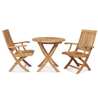 Solid Wood Bistro Sets Patio Dining Furniture The Home Depot