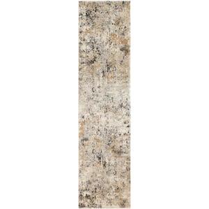 Zehra Beige 2 ft. 7 in. x 10 ft. 3 in. Distressed Area Rug
