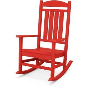 Pineapple Cay Red Wood Outdoor Rocking Chair