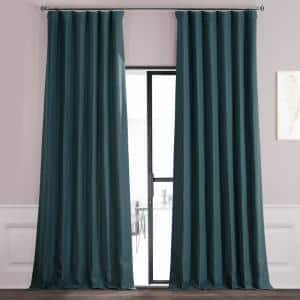 Bayberry Teal Rod Pocket Blackout Curtain - 50 in. W x 84 in. L