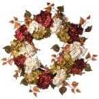 24 in. Harvest Wreath with Hydrangea and Berries