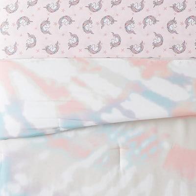 Tie Dye Party 7-Piece Multicolor Microfiber Full Bed Ensemble