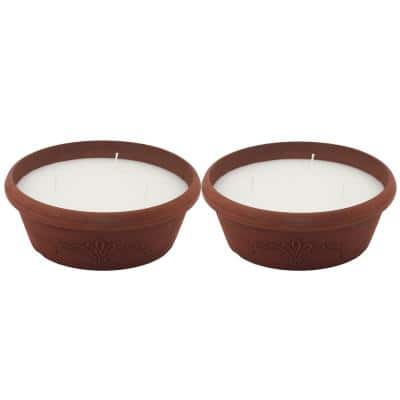21 oz. Citronella Candle Faux Terracotta Design