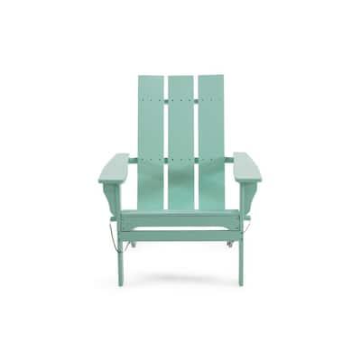 Zuma Light Mint Folding Wood Adirondack Chair