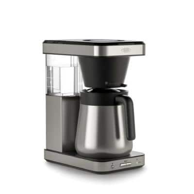 8-Cup Stainless Steel Brew Coffee Maker with Single-Serve Capability