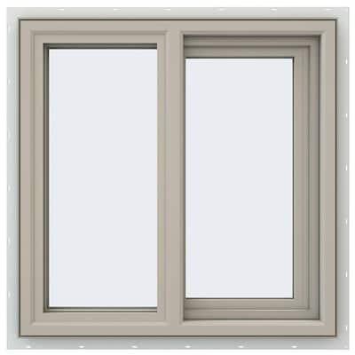 23.5 in. x 23.5 in. V-4500 Series Desert Sand Vinyl Right-Handed Sliding Window with Fiberglass Mesh Screen