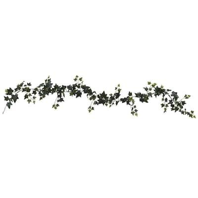 Indoor 6 ft. Sage Ivy Garland Artificial Plant (4-Set)