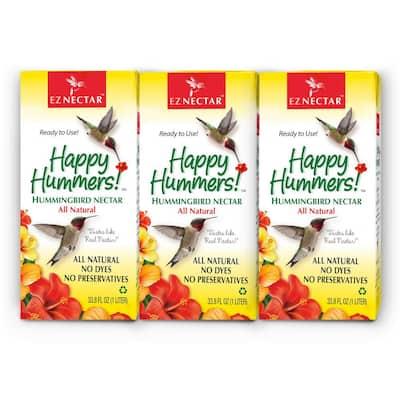 33.8 fl. oz. Hummingbird Nectar/Food Ready-to-Use 100% Sugar and Water (3-pack)