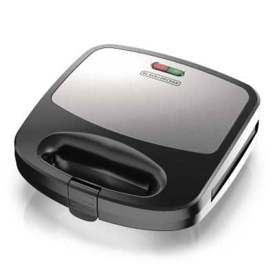 3-in-1 Black Morning Meal Station Waffle Maker and Grill
