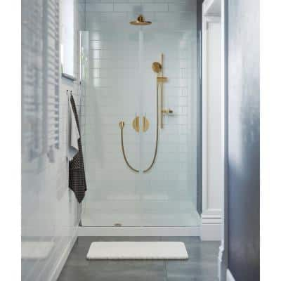Voltaire 48 in. x 36 in. Single Threshold Acrylic Left Drain Shower Base in White