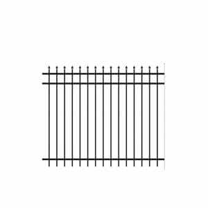 Cascade Standard-Duty 5 ft. H x 6 ft. W Black Aluminum Pre-Assembled Fence Panel