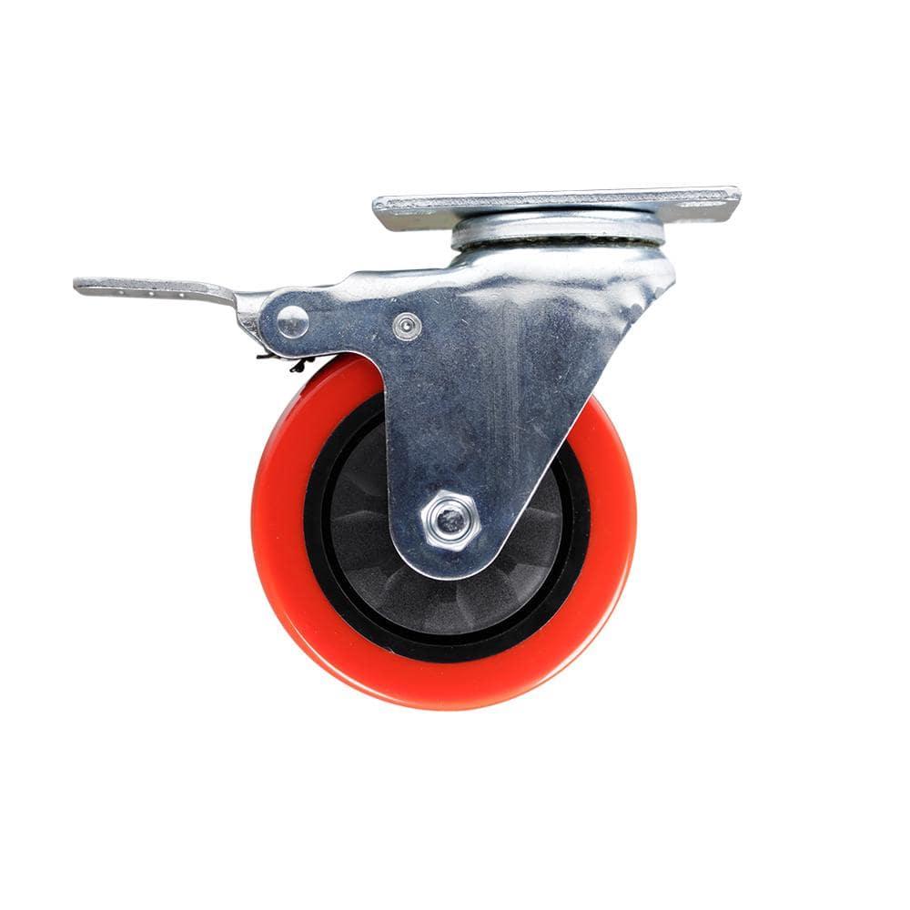 Details about  /4/'/' Heavy Duty Swivel Caster Wheels 360 Degree Top Plate Lockable Ball w 17
