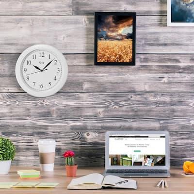 10 in. White Basics Quartz Wall Clock