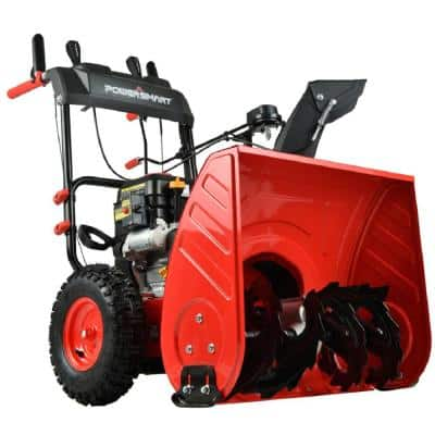 24 in. Two Stage Electric Start Gas Snow Blower with LED Light