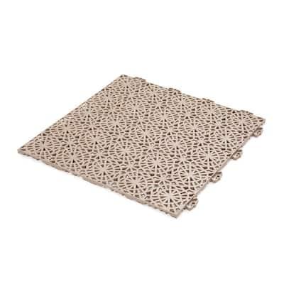 XL Tiles 1.24 ft. x 1.24 ft. PVC Deck Tiles in Cedar Wood, 35-Tiles per Case, 54 sq. ft.