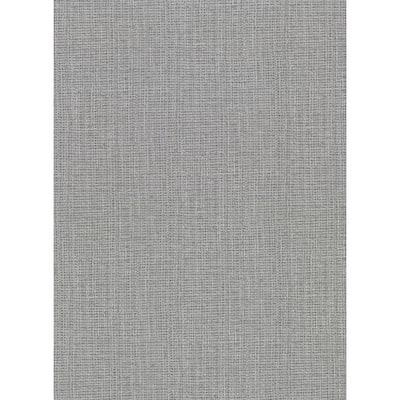 Claremont Silver Faux Grasscloth Silver Wallpaper Sample