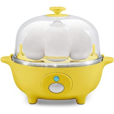 Gourmet 7-Eggs Yellow Easy Egg Cooker