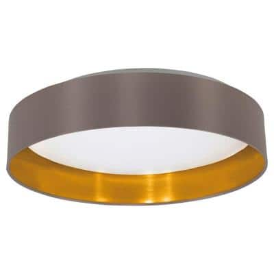 Maserlo Cappucino and Satin Nickel Integrated LED Ceiling Light