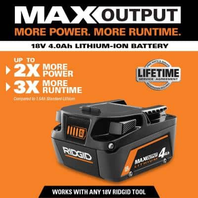 18V Lithium-Ion MAX Output 4.0 Ah Battery and Charger Starter Kit