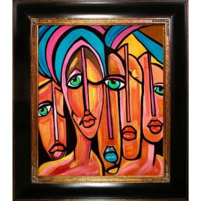 """""""Picasso by Nora, Four Eyes Reproduction with Opulent Frame"""" by Nora Shepley Canvas Print"""