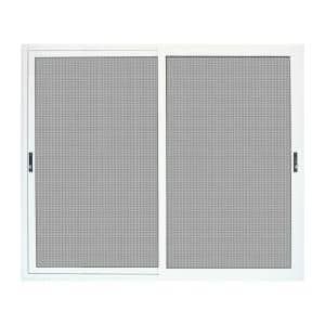 96 in. x 80 in. White Sliding Ultimate Security Patio Screen Door with Meshtec Screen