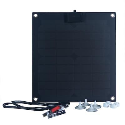 15-Watt Semi-Flex Monocrystalline Solar Panel with Charge Controller for 12-Volt Battery Charging