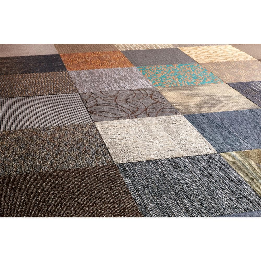TrafficMaster Assorted Pattern Commercial Peel and Stick 24 in. x 24 in. Carpet Tile (10 Tiles/Case)