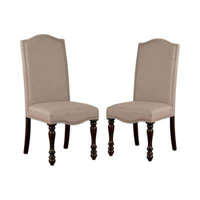 Hailo Espresso and Beige Side Chairs (Set of 2)