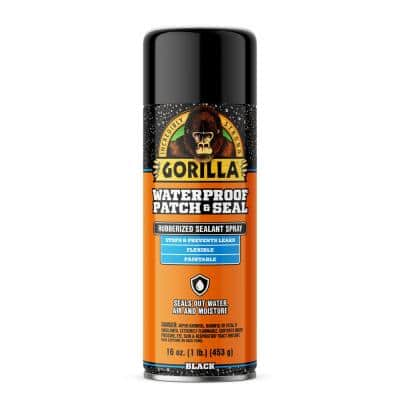 16 oz. Waterproof Patch and Seal Spray Paint in Black (6-Pack)