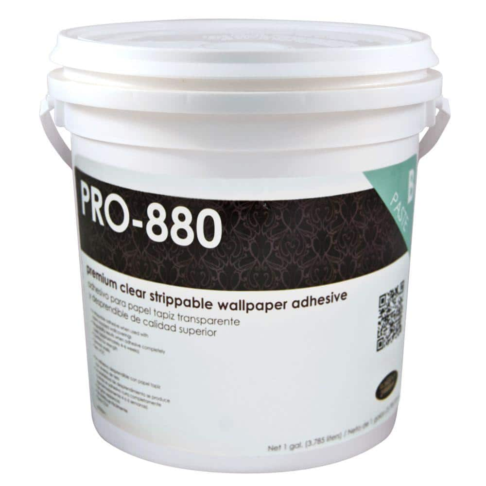 Roman PRO-880 1 Gal. Ultra Clear Premium Clear Strippable Wallcovering Adhesive