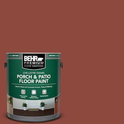 1 gal. #PFC-10 Deep Terra Cotta Low-Lustre Enamel Interior/Exterior Porch and Patio Floor Paint