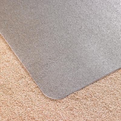Advantagemat® Vinyl Rectangular Chair Mat for Carpets up to 1/4 in. - 48 in. x 60 in.