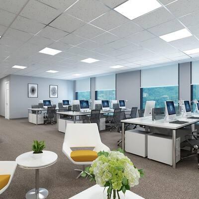2 ft. x 2 ft. 300-Watt Equivalent White Integrated LED Backlit Troffer, 4590 Lumens, 5000K Daylight (2-Pack)